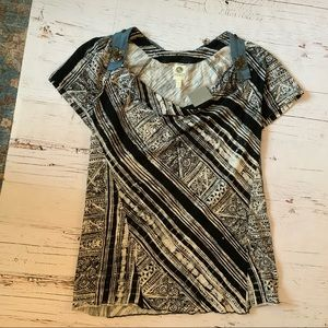 Tiny by Anthropologie button embellished top NWT